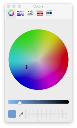 Color picker panel